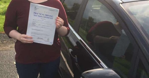 Driving Lessons Ardrossan - Rosalyn Meney first time pass