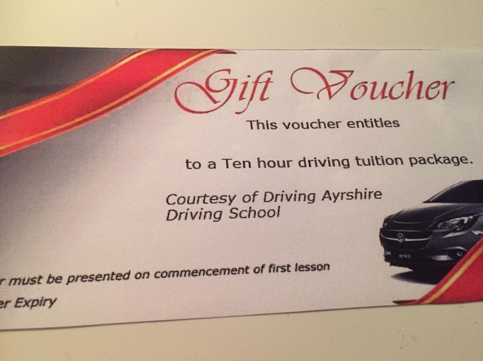 Driving Ayrshire voucher