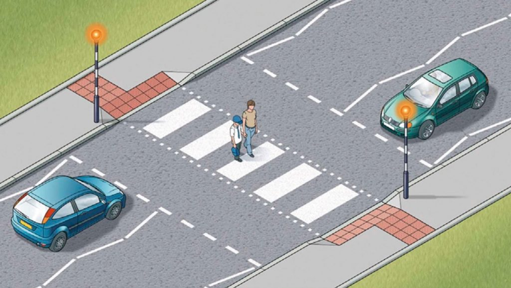 Types of pedestrian crossings - Zebra crossings